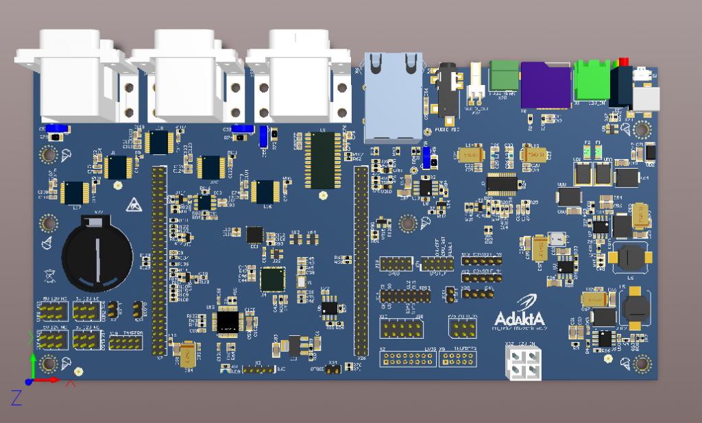 Motherboard for SoM based on NXP iMX7
