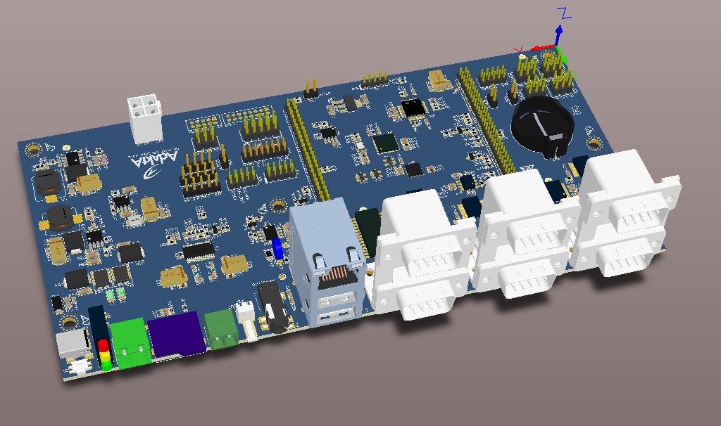Материнская плата для процессорного модуля на базе процессора iMX7