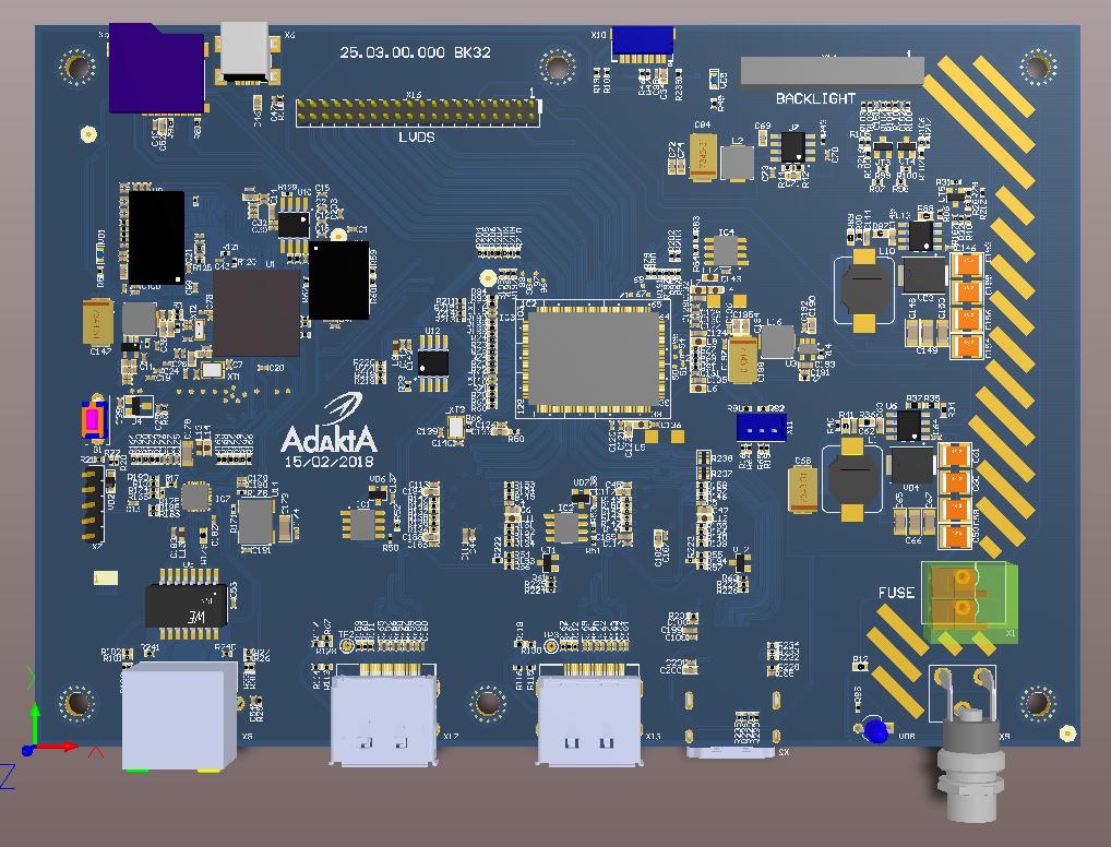 Видеоконтроллер промышленного дисплея 2DisplayPort-LVDS