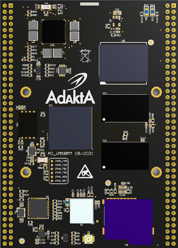 Процессорный модуль на базе процессора iMX8M Mini