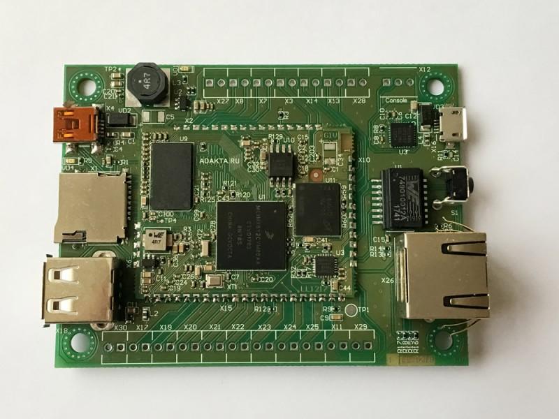 Материнская плата в сборе с процессорным модулем iMX6ull